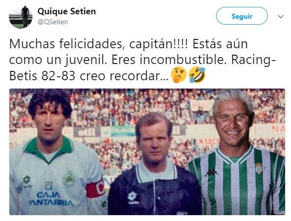 La épica felicitación de Setién a Joaquín por su 37 cumpleaños