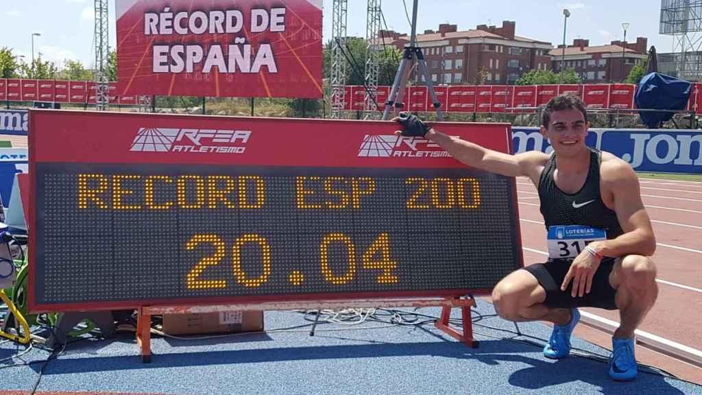 Bruno Hortelano bate su récord de España de los 200 metros con 20.04