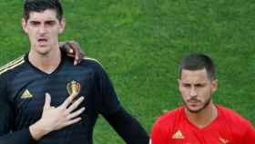 Hazard y Courtois. Foto chelseafc.com