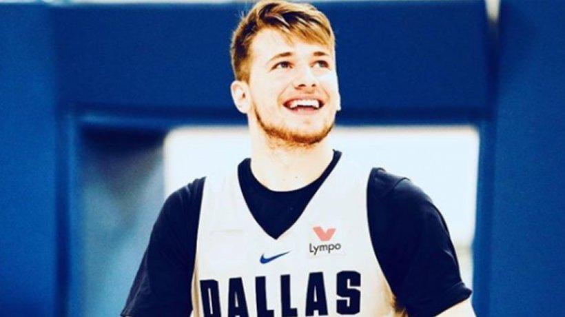 Luka Doncic, durante un entrenamiento con Dallas Mavericks. Foto: Instagram (@dallasmavs)