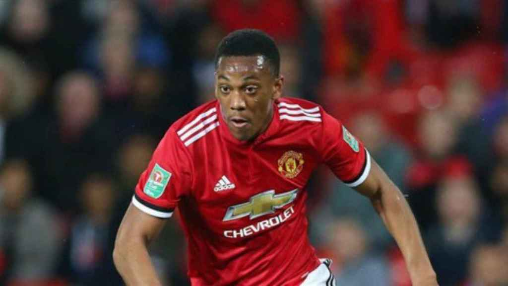 Martial en un partido con el Manchester United. Foto: manutd.com