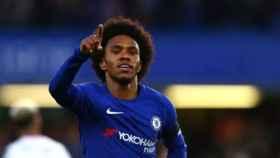 Willian celebra un gol con el Chelsea. Foto: chelseafc.com