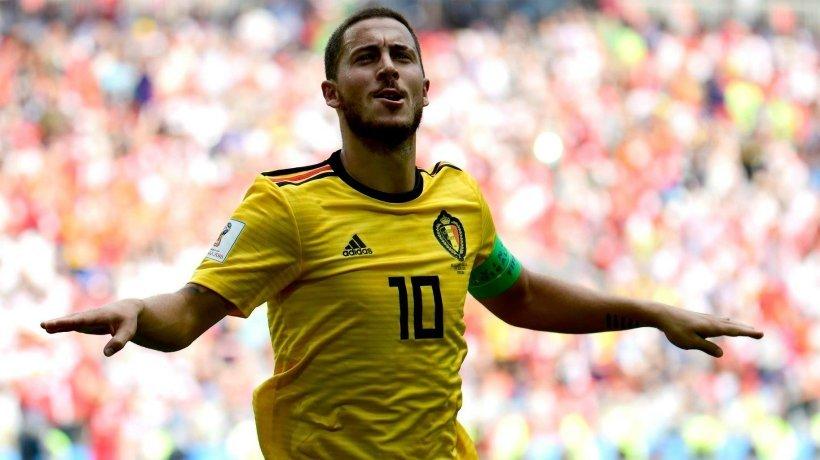 Hazard, en un partido con Bélgica celebrando su gol. Foto: Facebook (@BelgianRedDevils)