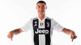 Cristiano Ronaldo, con la camiseta de la Juventus