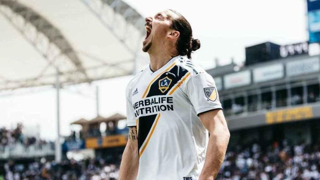 Ibrahimovic, jugador de Los Galaxy. Foto: Twitter (@LAGalaxy)
