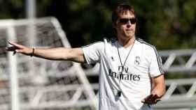 Lopetegui, en un entrenamiento del Real Madrid