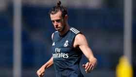 Bale, durante un entrenamiento del Madrid