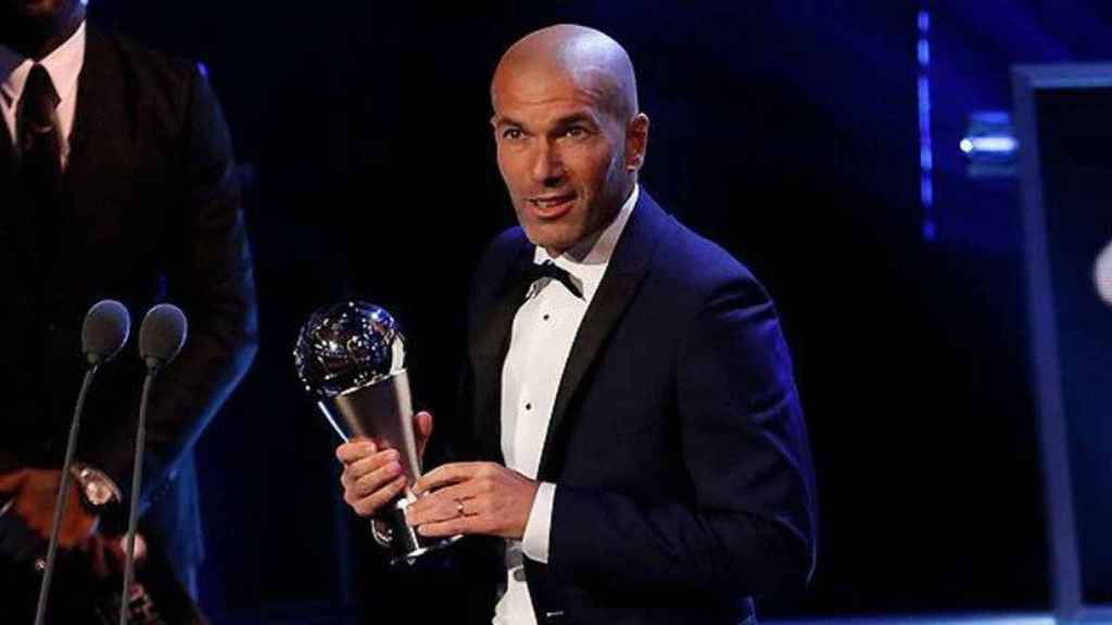 Zidane en los premios The Best