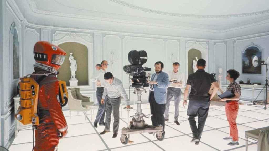 Kubrick en el rodaje de '2001, una odisea en el espacio'.