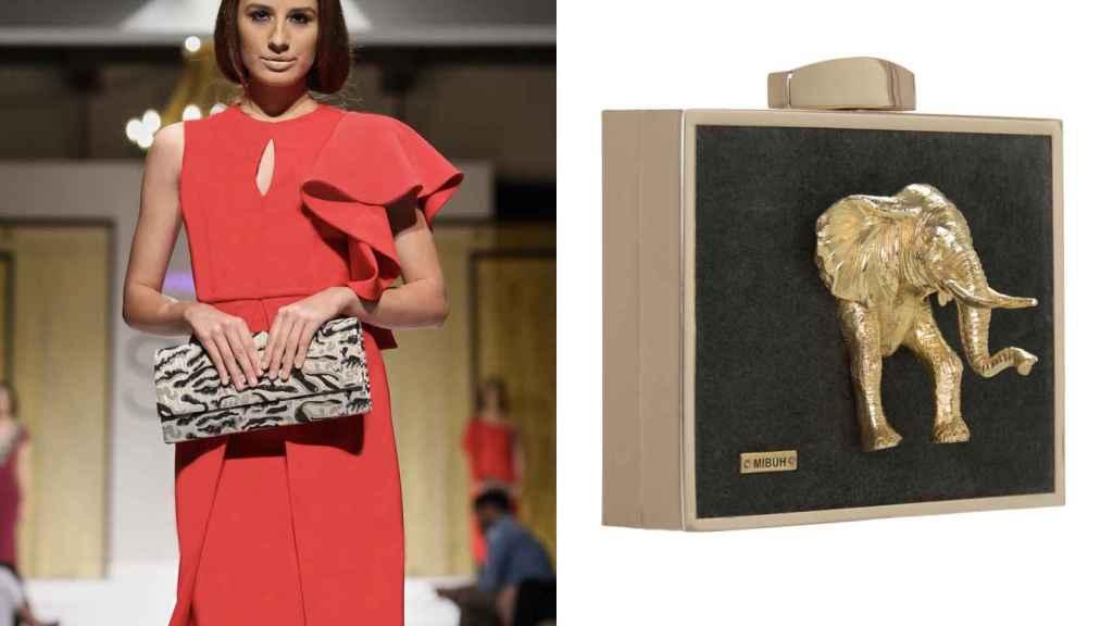 El vestido y el bolso elegidos por Irene Rosales para la boda.
