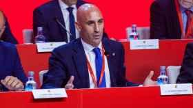 Luis Rubiales, en la Asamblea General de la RFEF