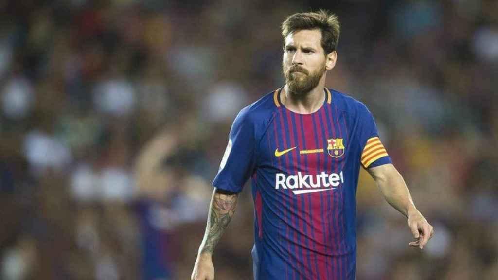 Messi, en un partido del Barça. Foto: fcbarcelona.es