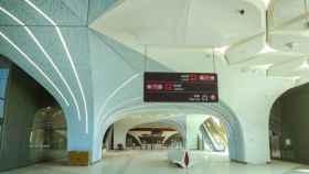 Imagen del metro de Doha.