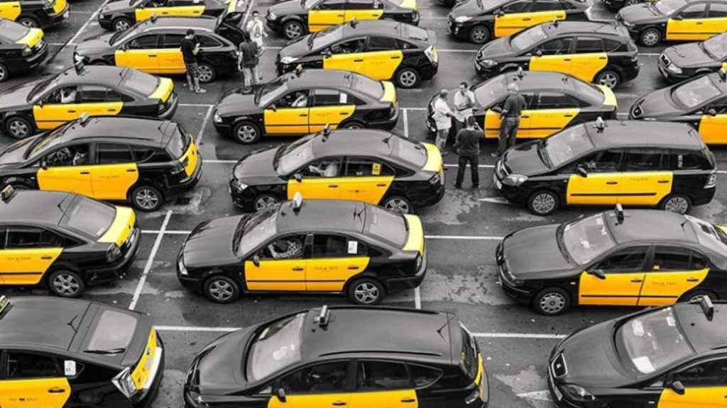 Taxis de Barcelona en una imagen de archivo.