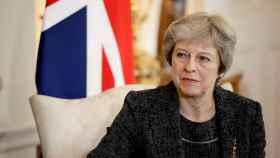 Theresa May, durante una recepción en el 10 Downing Street.
