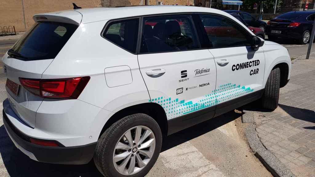 Telefónica presenta con SEAT el coche que habla con la ciudad