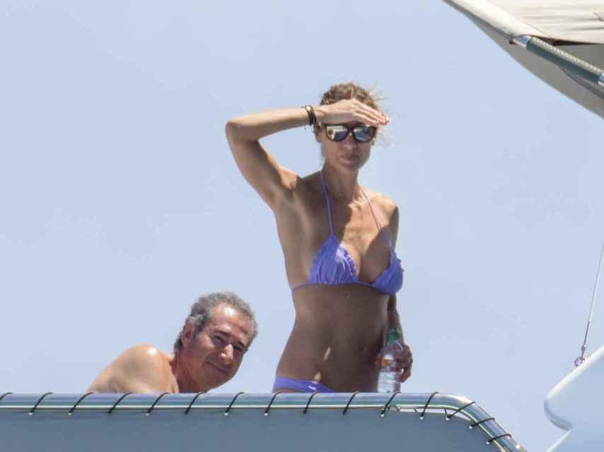 Mónica Ponte y José Cacheiro en Ibiza.