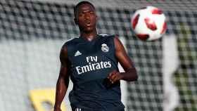 Vinicius Jr. durante el último entrenamiento con el Real Madrid