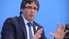 Puigdemont, durante una conferencia en Berlín.