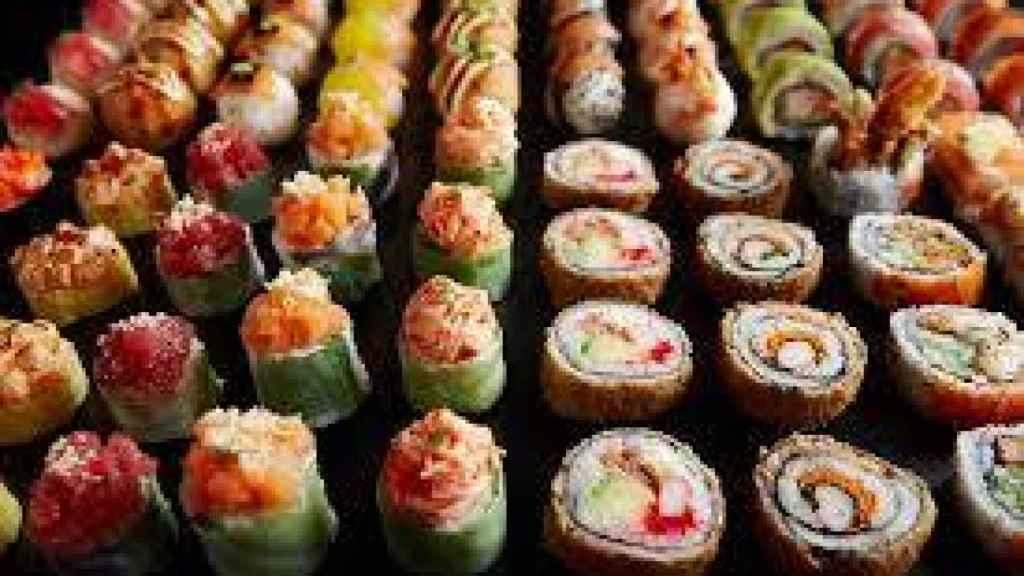 Imagen de sushi de Sushi Shop en una imagen de archivo.