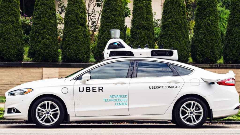 Imagen de un coche autónomo de Uber.
