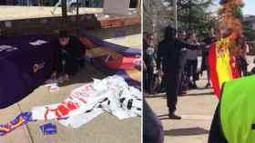 Ataque a los jóvenes de Sociedad Civil Catalana por parte de jóvenes independentistas.
