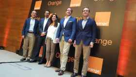 Laurent Paillassot junto a la directiva de Orange en España.