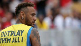 Neymar durante un acto en Brasil