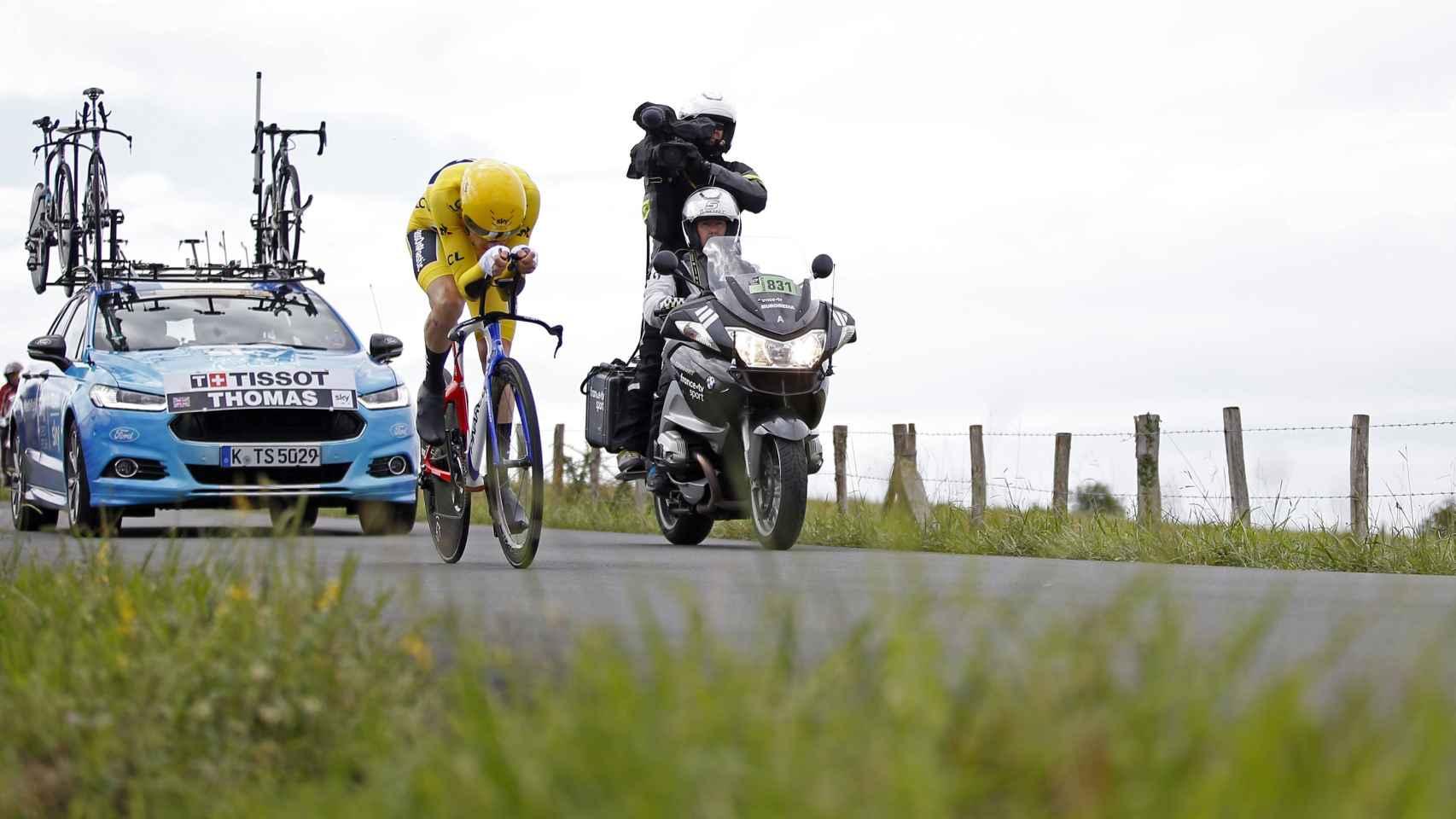 Geraint Thomas tiene dos minutos de ventaja para afrontar la última contrarreloj del Tour.