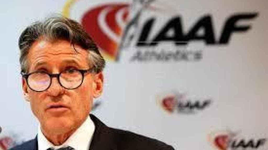 Sebastian Coe, presidente de la IAAF, durante un acto. Foto: EFE