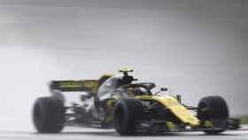 Sainz, durante la clasificación del GP de Hungría. Foto: EFE