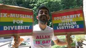 Amed Sherwan, joven iraquí amenazado por sus lemas en el Orgullo Gay.