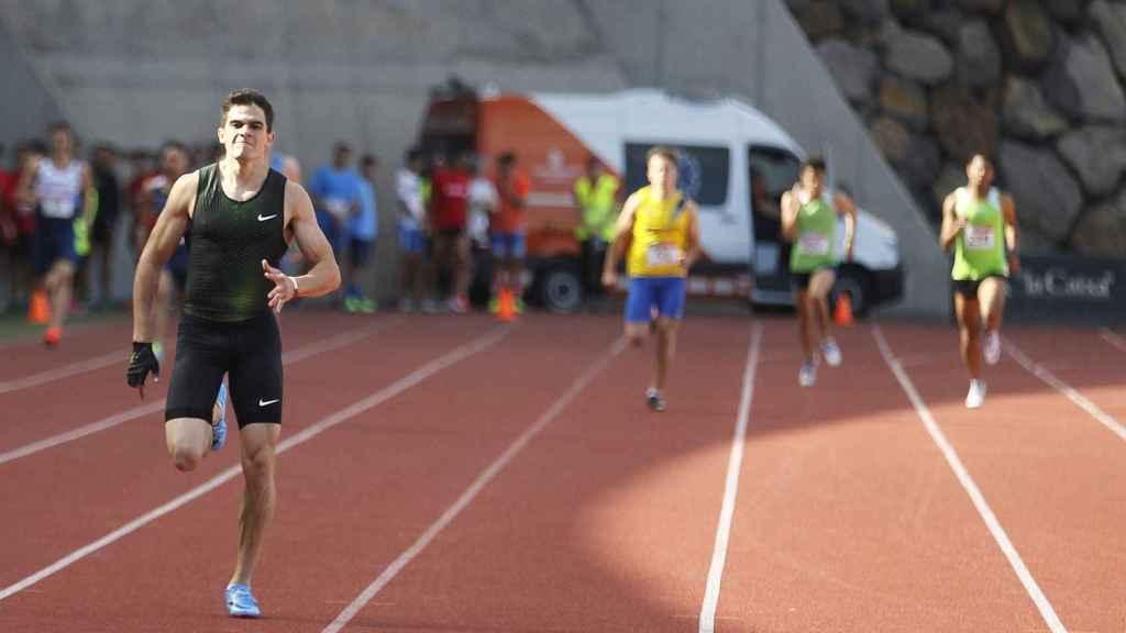 Bruno Hortelano, en su vuelta en Tenerife.