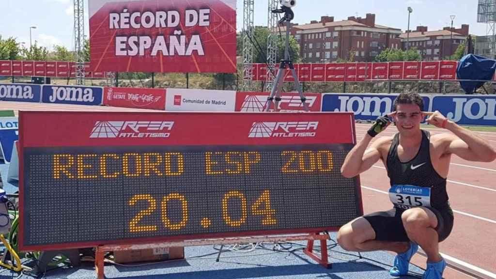 Bruno Hortelano bate el récord de 200.