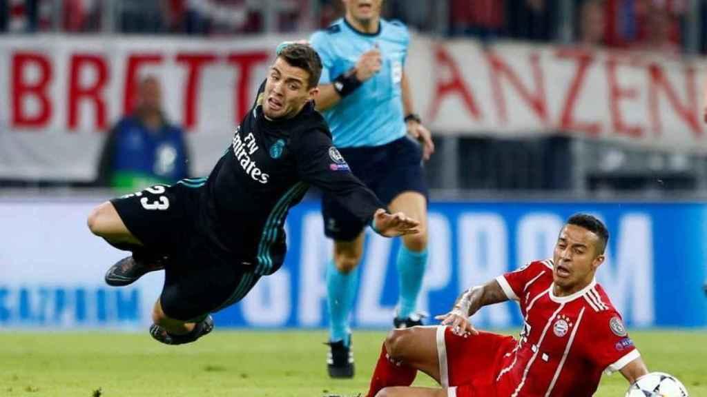 Kovacic durante un partido del Real Madrid contra el Bayern en Champions