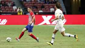 Partido entre Atlético y PSG. Foto: Twitter (@Atleti)