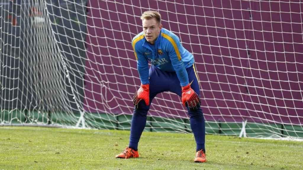 Marc-André Ter Stegen entrenando con el Barcelona. Foto: fcbarcelona.com