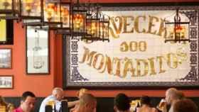 Un restaurante de 100 Montaditos, en una imagen de archivo.