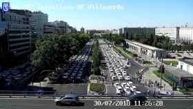 Los taxistas colapsan la Castellana y plantean sus condiciones para desconvocar