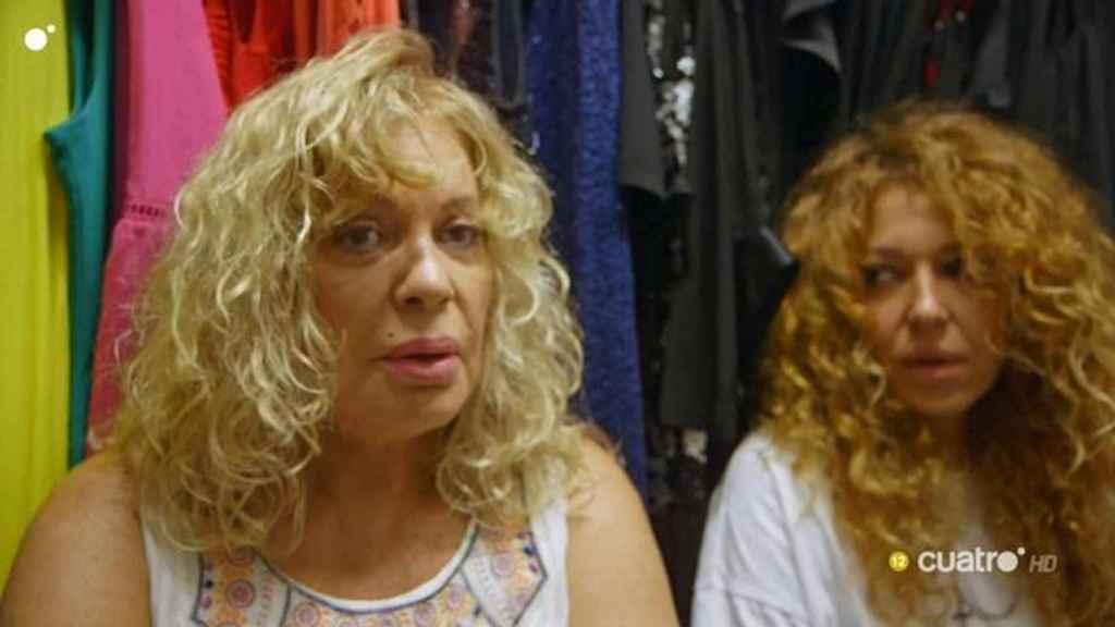 Bárbara Rey y su hija en el programa de Cuatro.