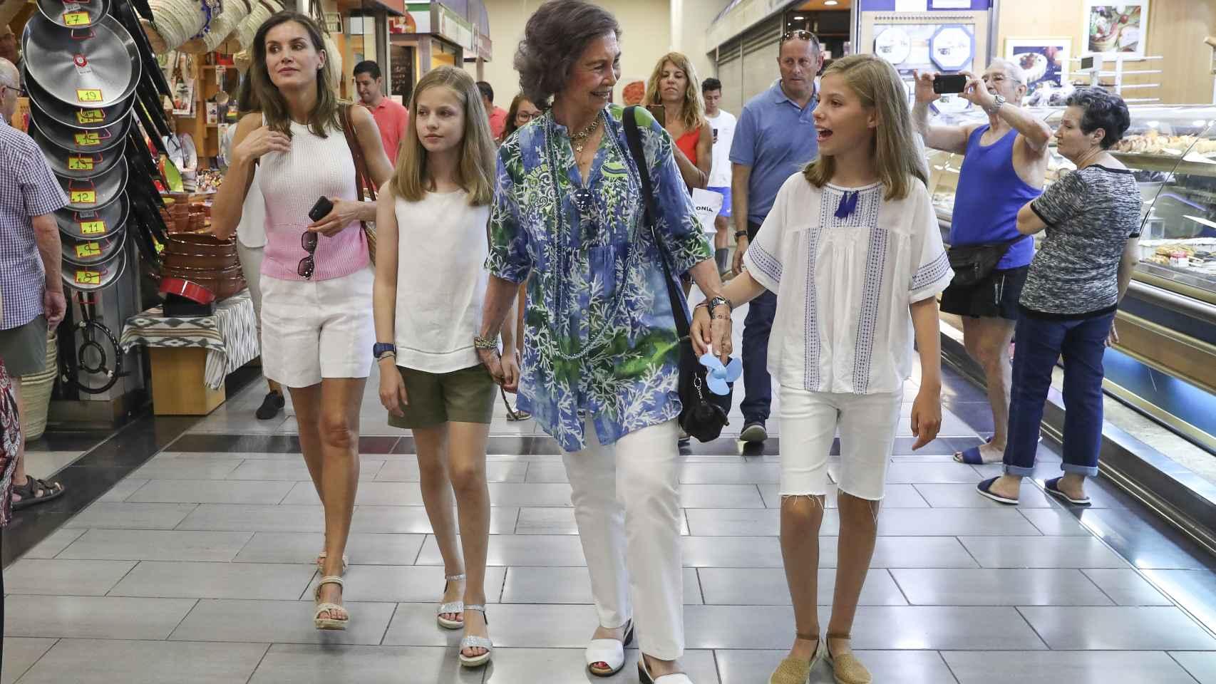 Día de chicas de la reina Sofía, Letizia, la princesa Leonor y la infanta Sofía