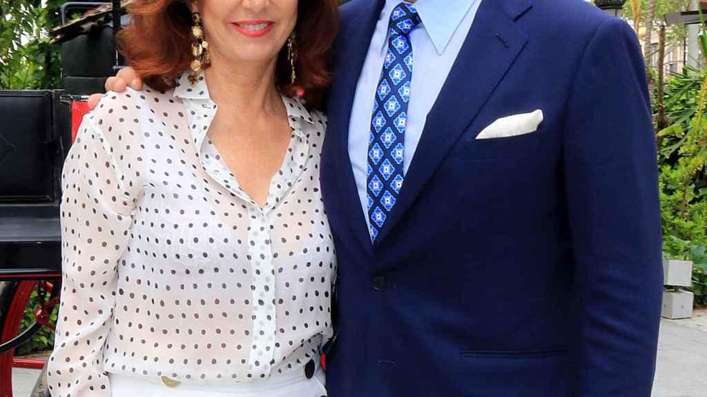 Ana Rosa Quintana y Juan Muñoz en una de sus últimas apariciones juntos.