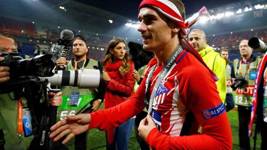 Griezmann celebra un título con el Atlético de Madrid