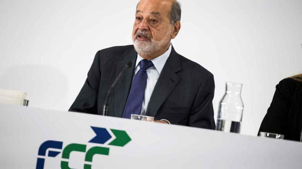 El empresario mexicano Carlos Slim, máximo accionista de FCC.