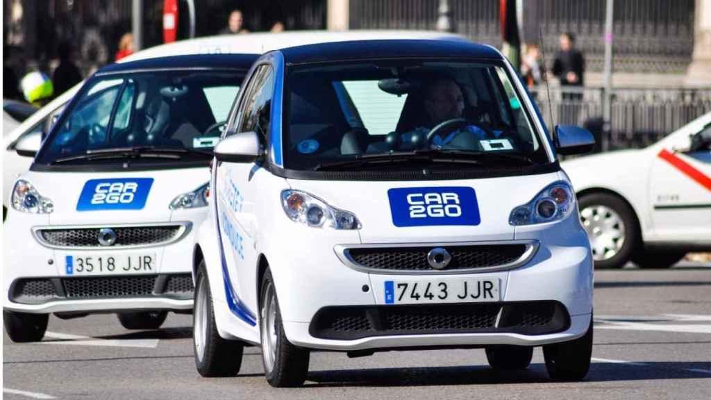 Vehículos Car2go y taxi, imagen de archivo.