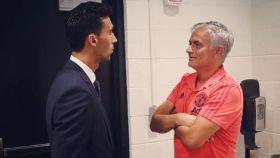 El emotivo mensaje de Arbeloa a Mourinho tras su reencuentro