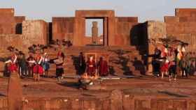 Tiwanaku durante la inauguración de los XI Juegos de la Odesur en mayo de este año.  EFE