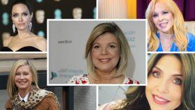 Terelu Campos en montaje JALEOS con otras celebridades.