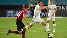 Gareth Bale, ante el Manchester United