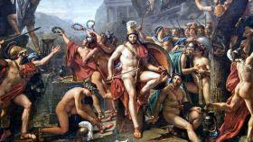 Leónidas en las Termópilas, por Jacques-Louis David.